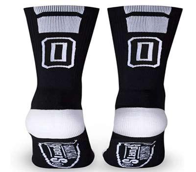 custom team number crew socks
